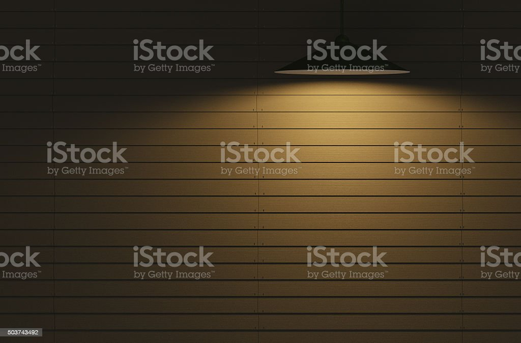 Wooden wall lights stock photo