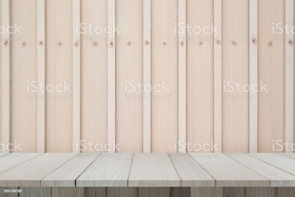 Wooden wall with wooden plank or wooden floor. Wooden texture. stock photo