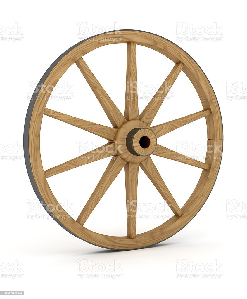 Wooden Wheel royalty-free stock photo