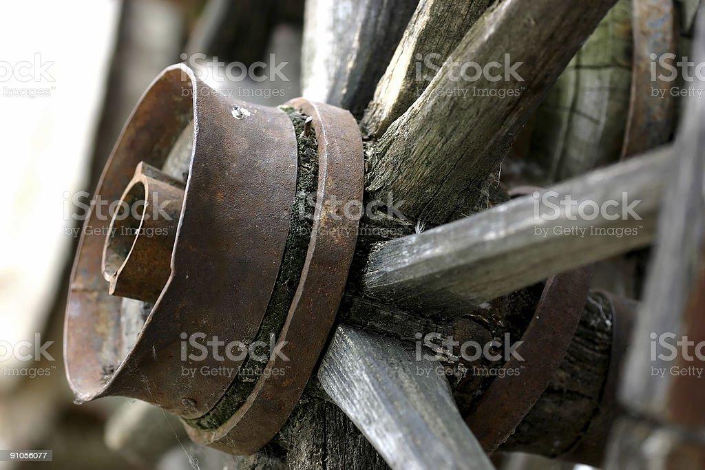 wooden wheel royalty-free stock photo