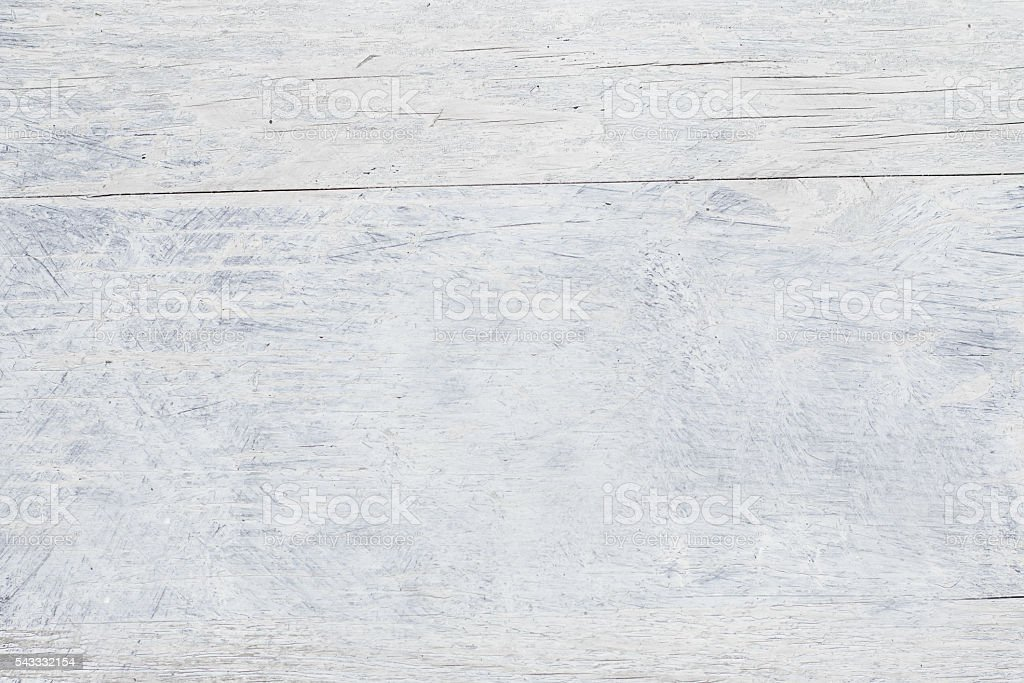 Wooden white background texture with faded paint stock photo