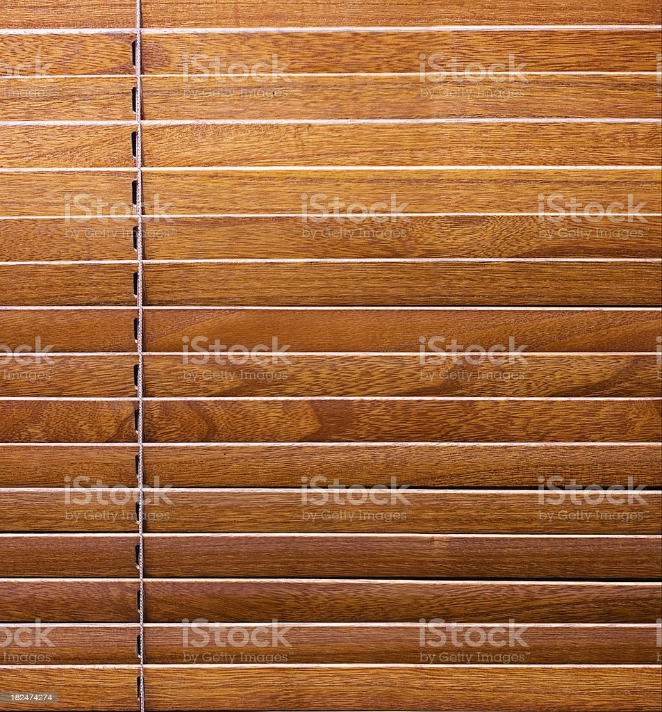 Wooden Window Blinds stock photo