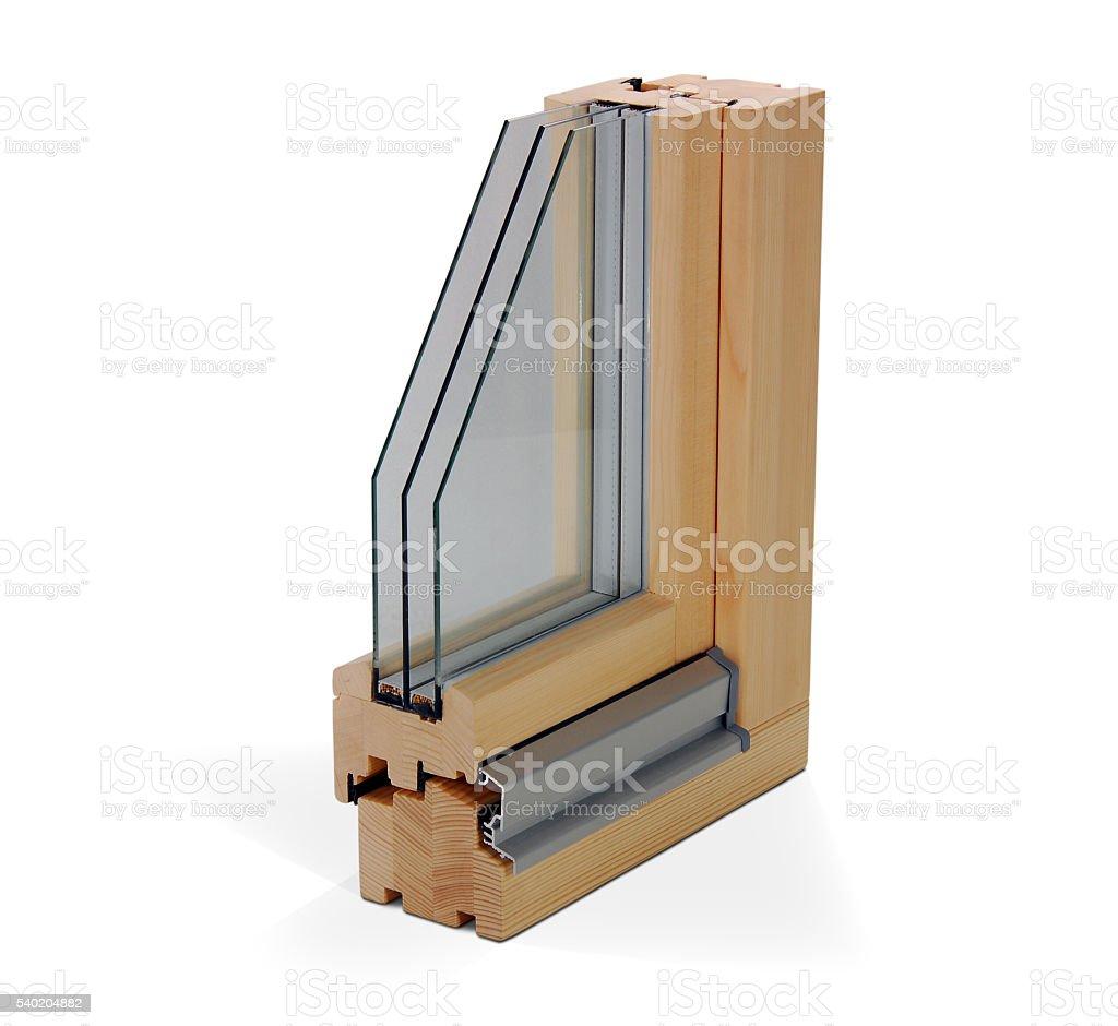 wooden window profile stock photo