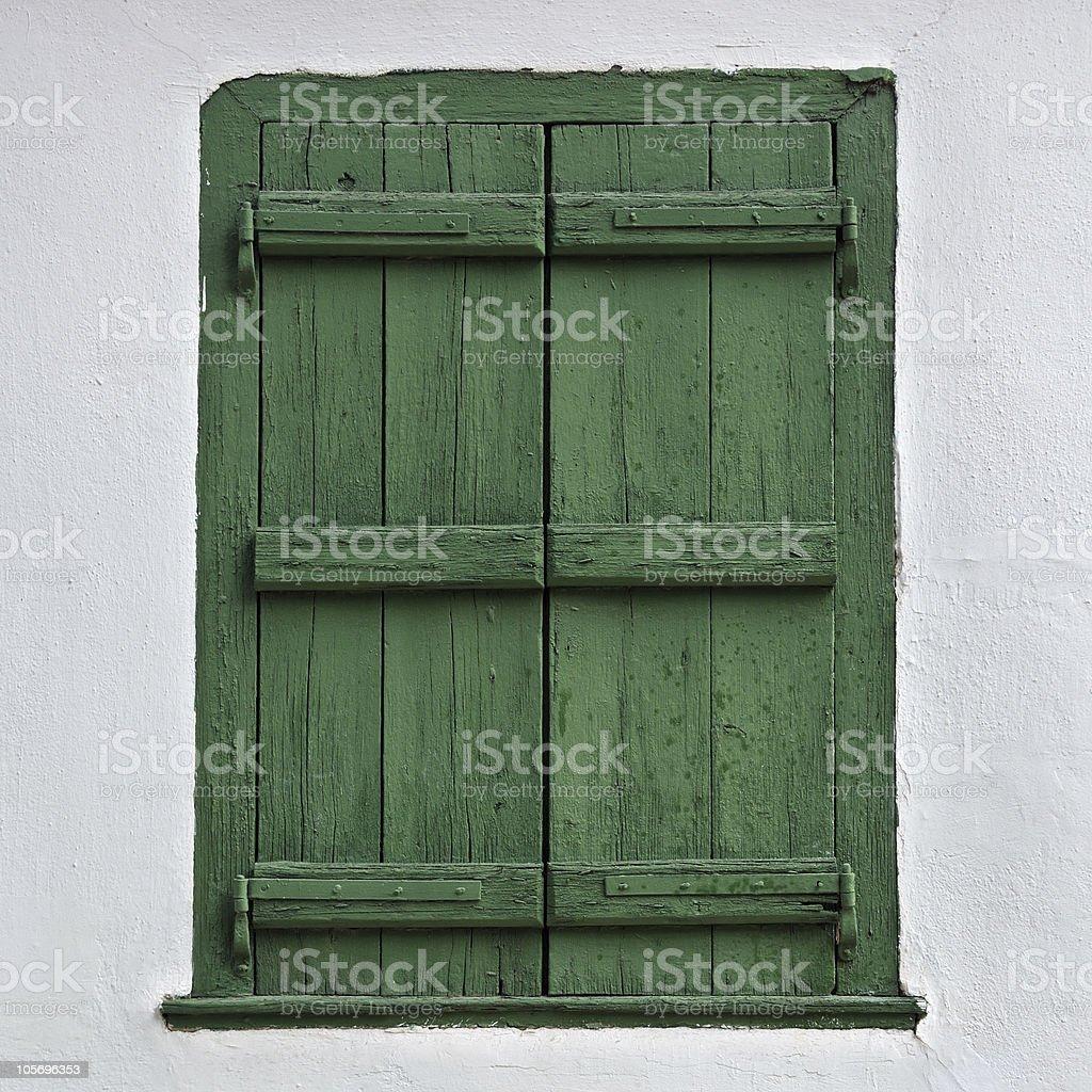 wooden window shutter royalty-free stock photo