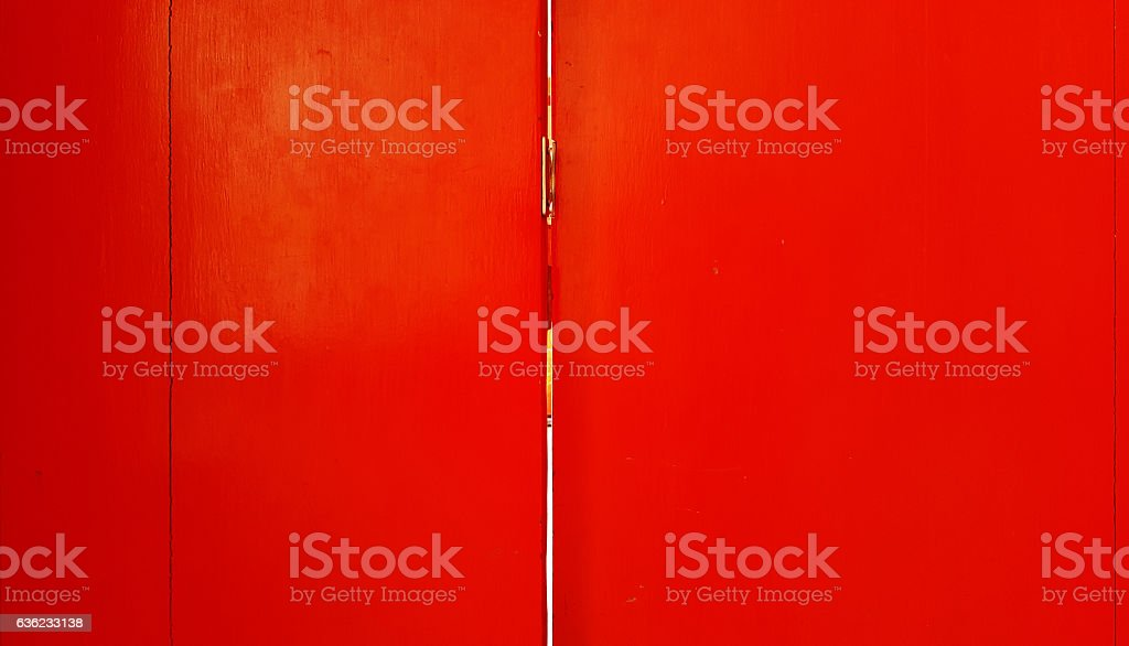 Wooden with red color and background stock photo