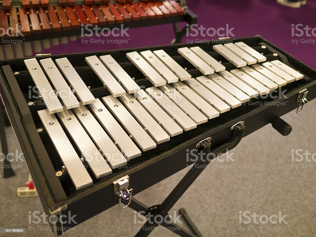 wooden xylophone stock photo
