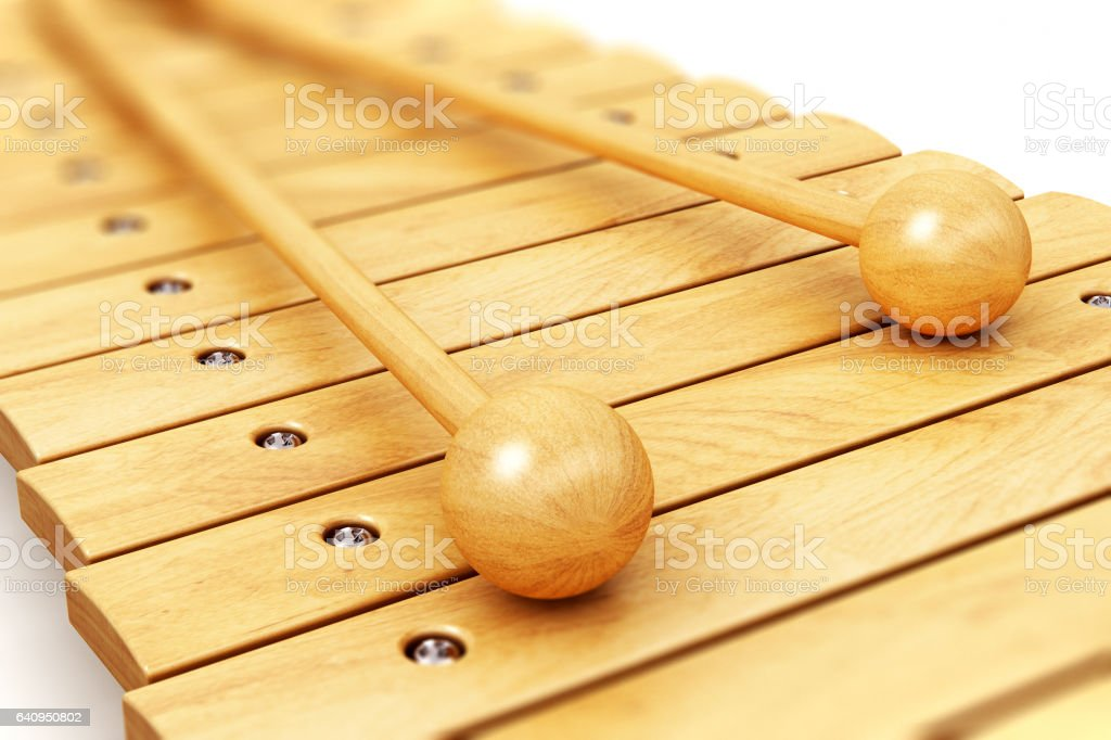 Wooden xylophone stock photo