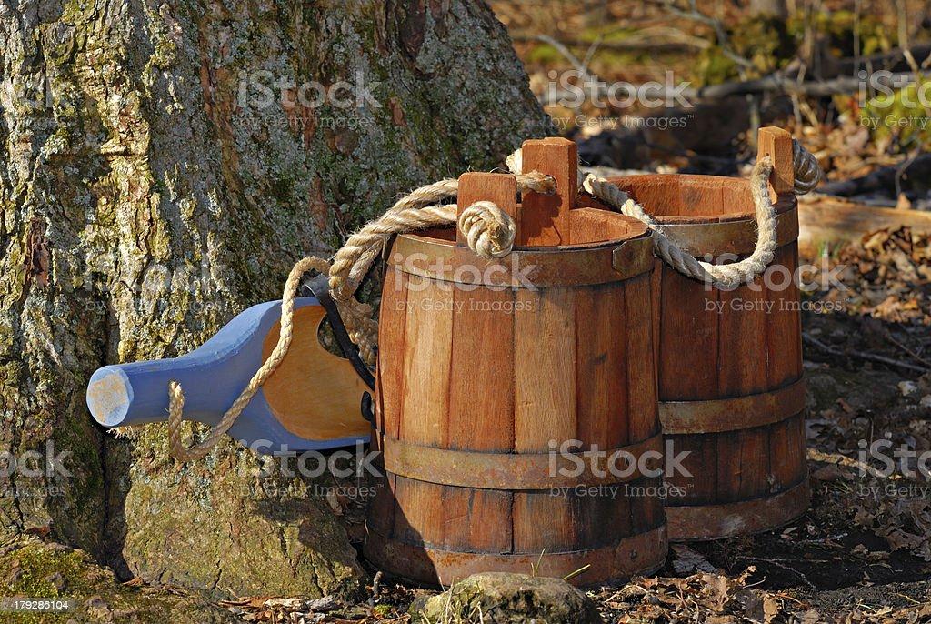 Wooden Yoke stock photo