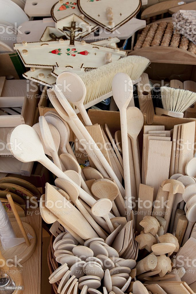 Woodenware royalty-free stock photo