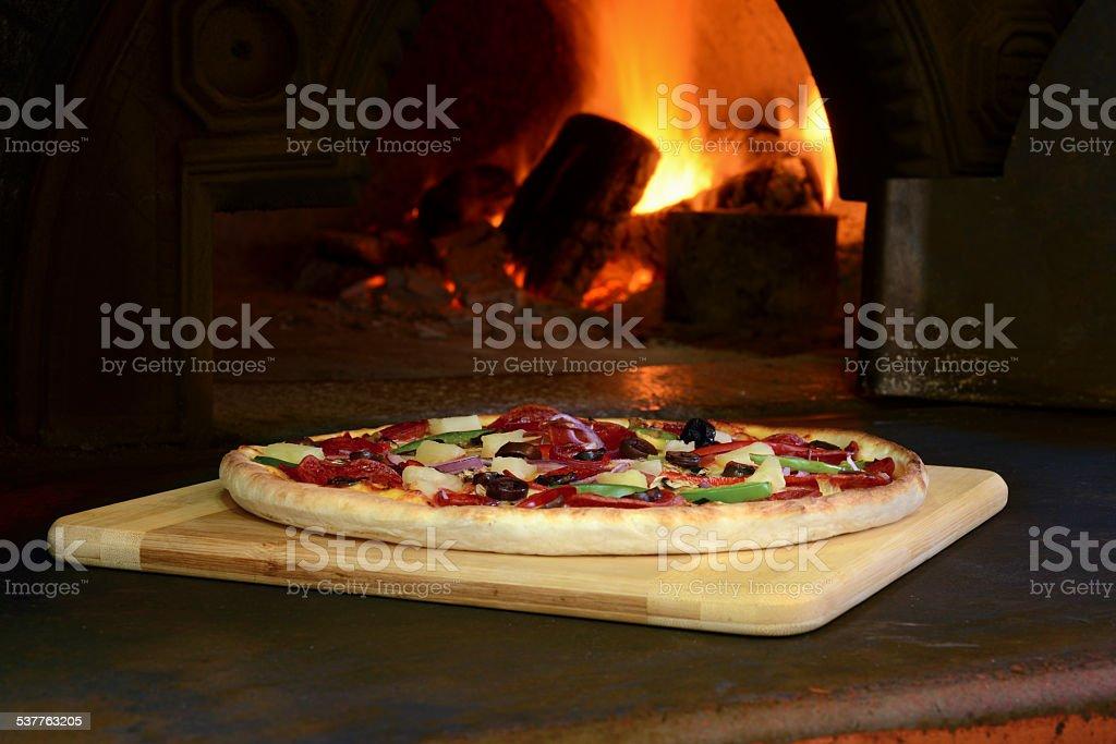 Woodfire Pizza stock photo