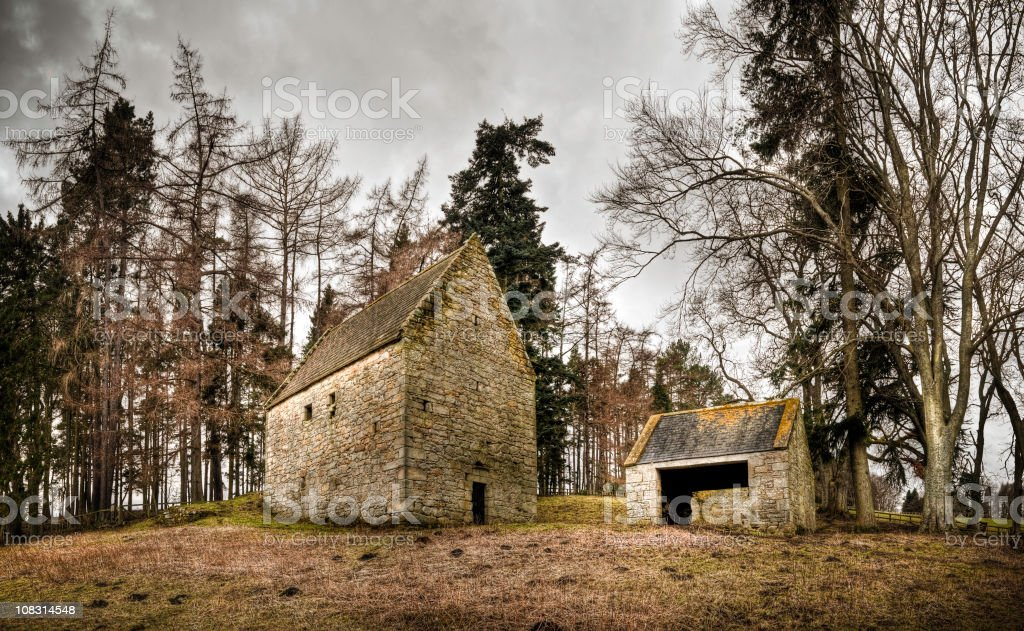 Woodhouse Bastle, near Rothbury, Northumberland, UK stock photo