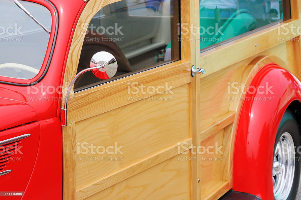 Woodie Classic American Streetrod Automobile on Display royalty-free stock photo