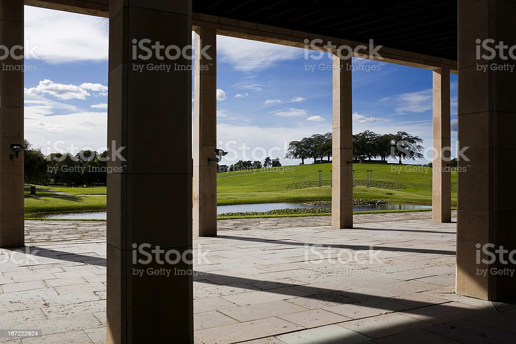 Woodland cemetery stock photo