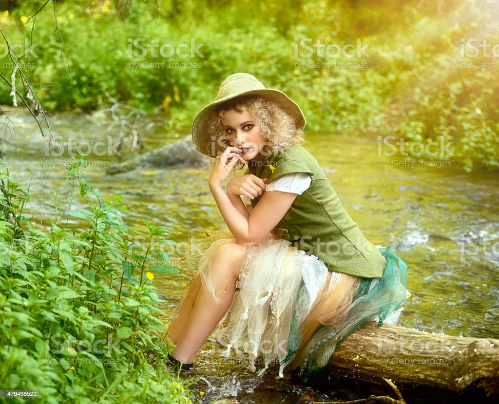 Woodland Fairy Princess stock photo