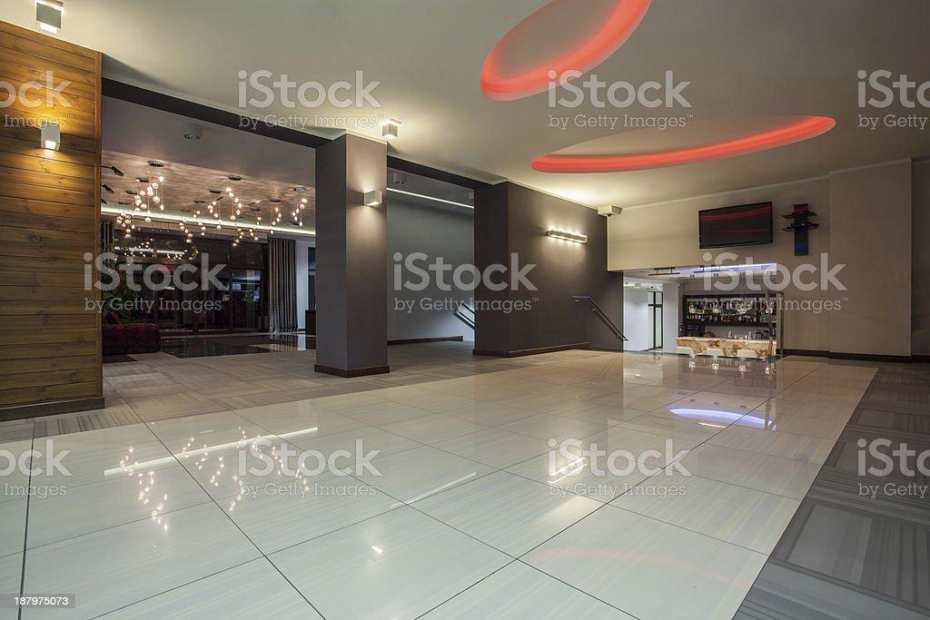 Woodland hotel -  hall stock photo