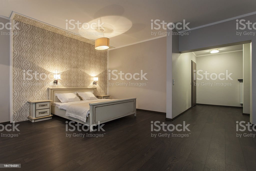 Woodland hotel - Modern room royalty-free stock photo