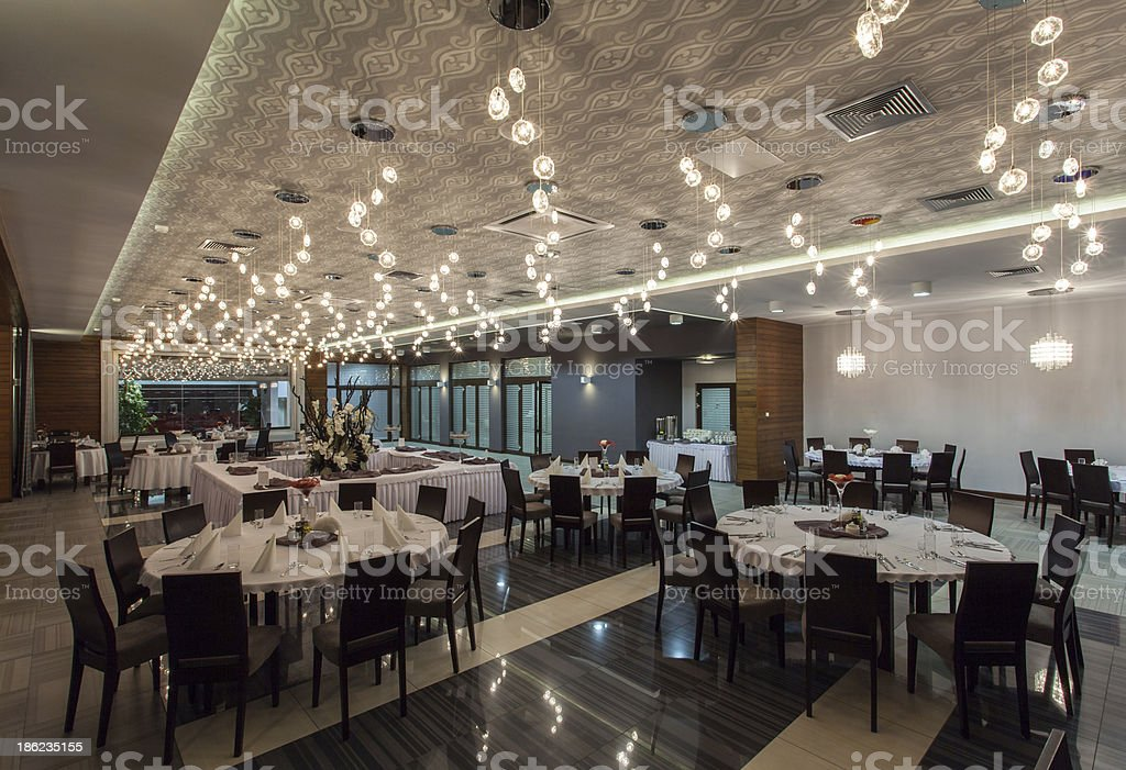 Woodland hotel - Restaurant royalty-free stock photo
