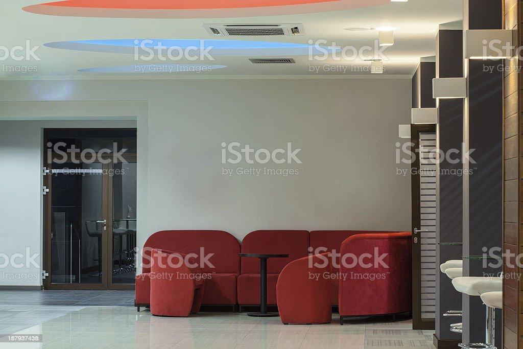 Woodland hotel - waiting room royalty-free stock photo