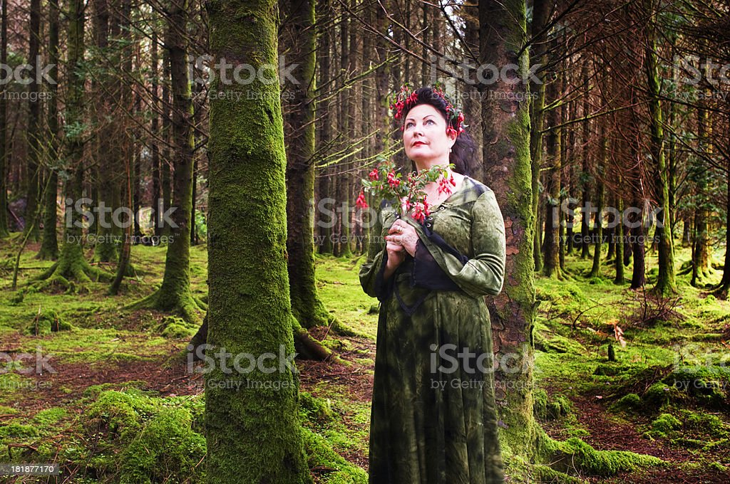 Woodland Lady royalty-free stock photo