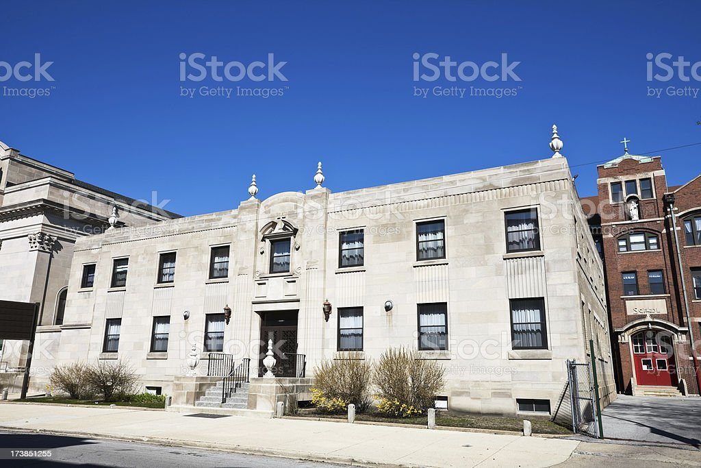 Woodlawn Institute and School Chicago royalty-free stock photo