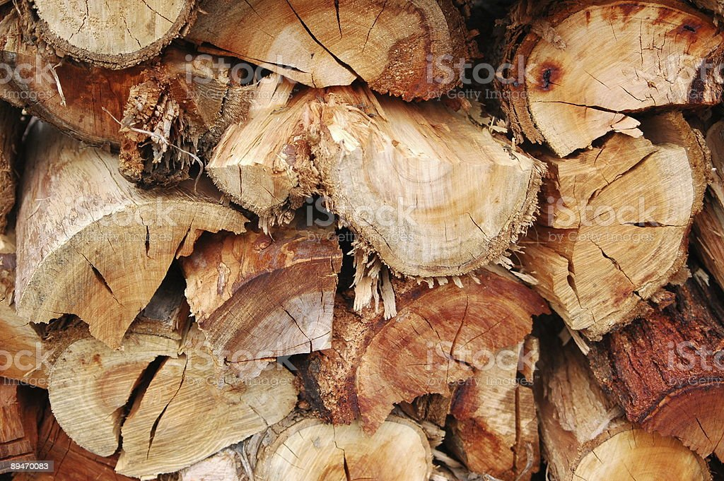 Woodpile Background royalty-free stock photo