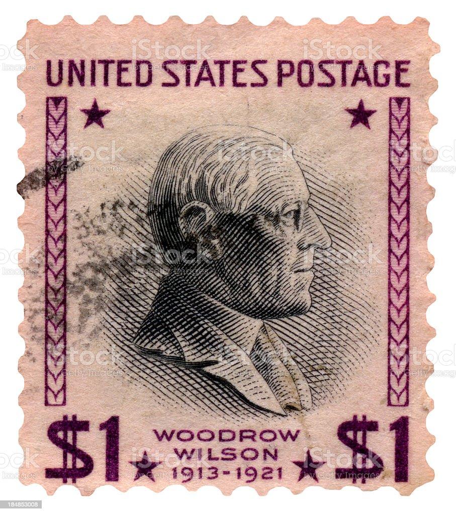 Woodrow Wilson Postage Stamp royalty-free stock photo