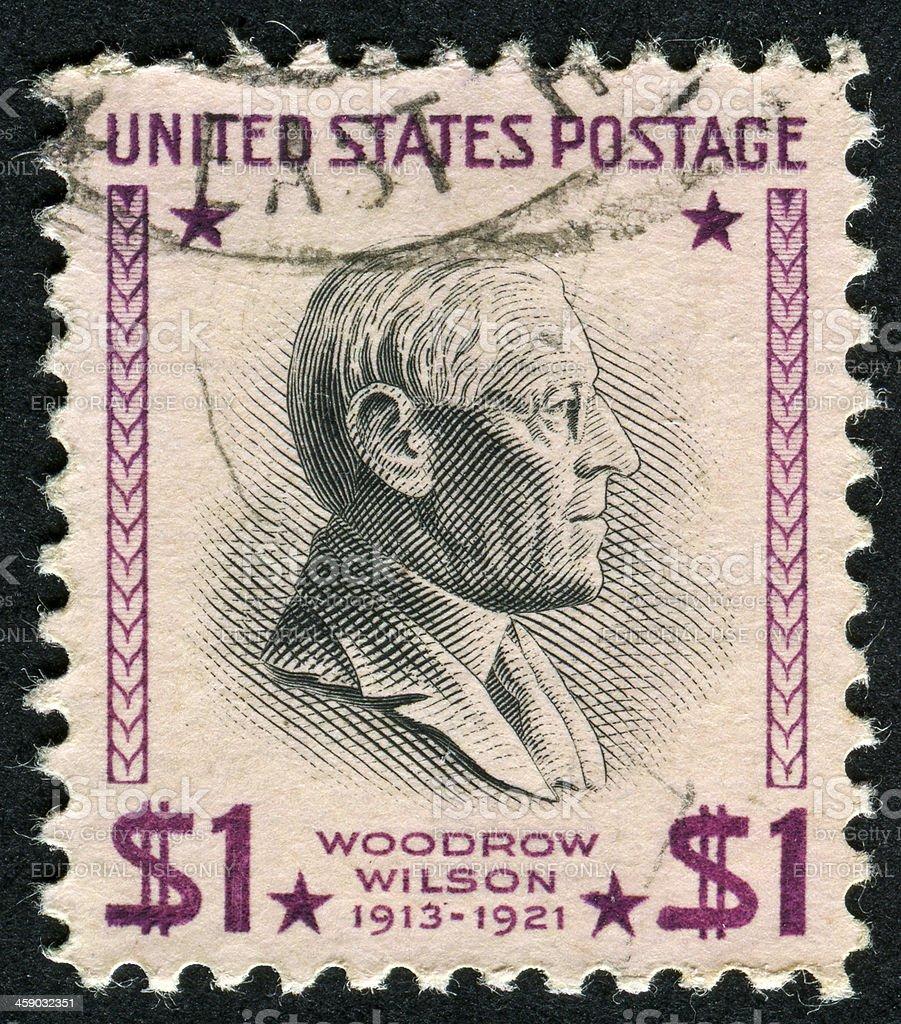 Woodrow Wilson Stamp royalty-free stock photo