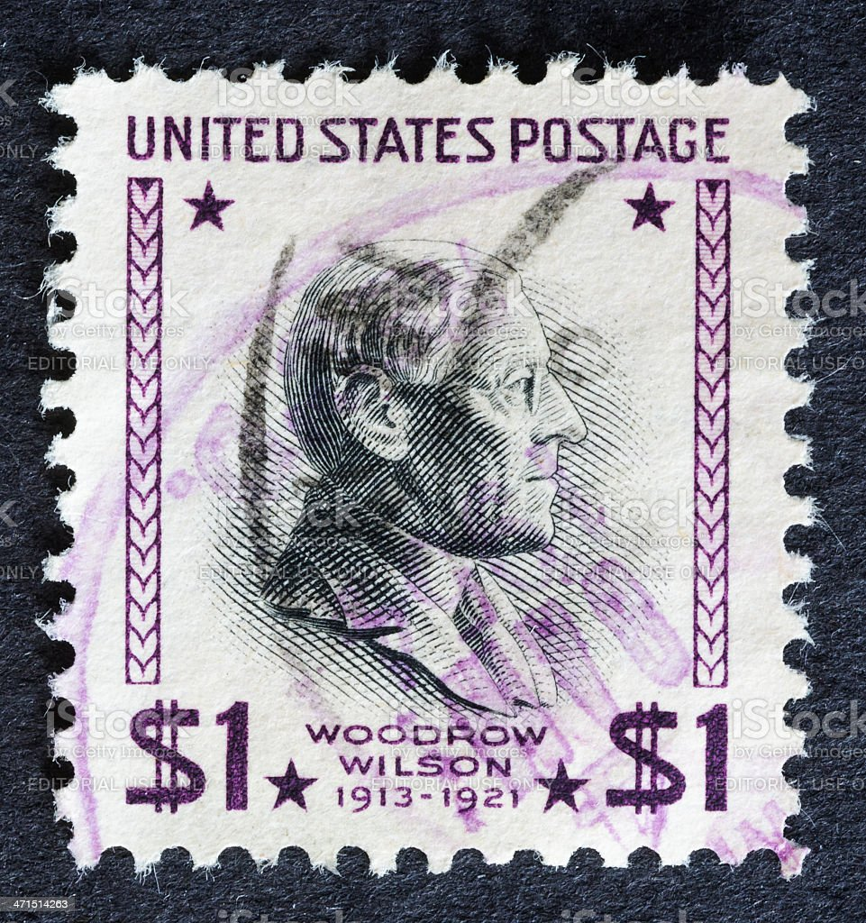 Woodrow Wilson Stamp royalty-free stock photo