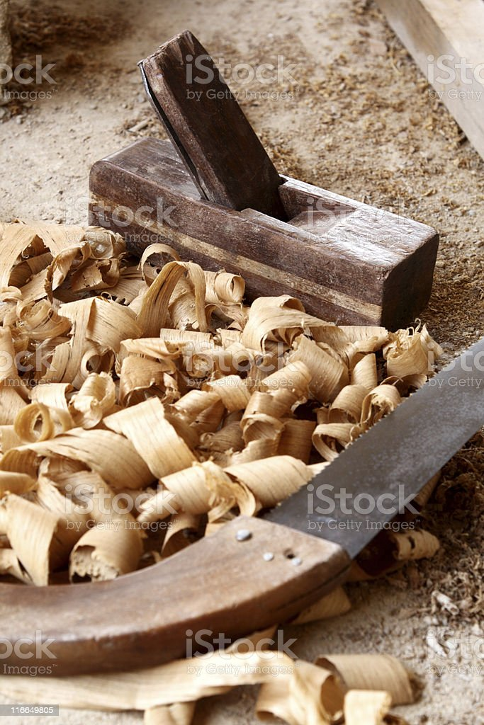 Wood's tools royalty-free stock photo