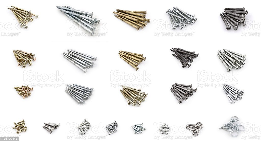 wood-screws XXXXL stock photo