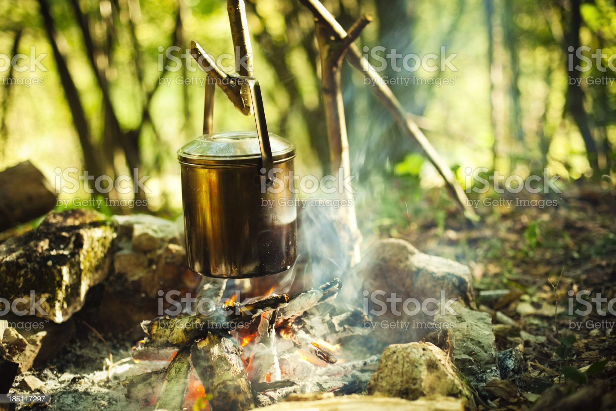 woodsman lunch royalty-free stock photo