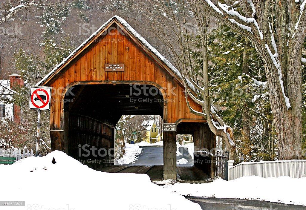 Woodstock Middle Bridge stock photo