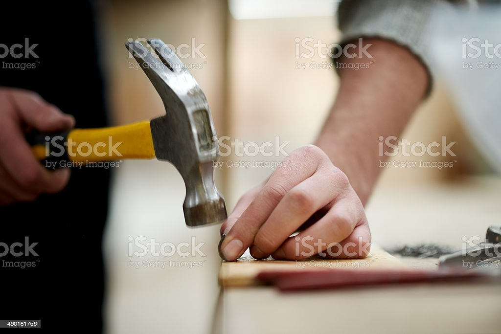 Woodwork - it's a great craft to learn stock photo