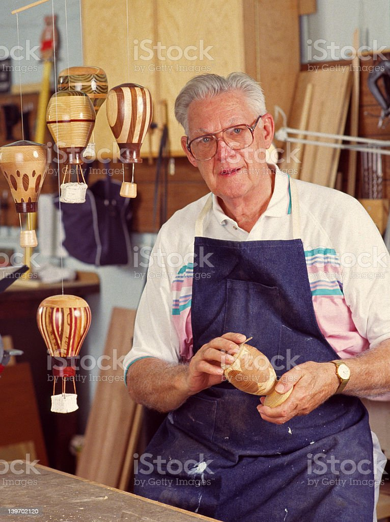 Woodworker royalty-free stock photo