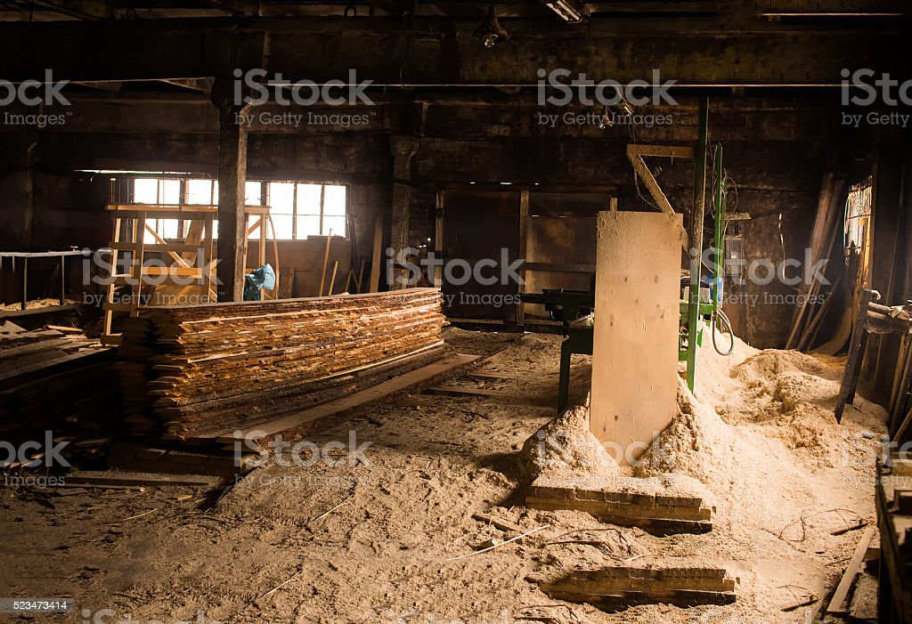 woodworking production stock photo