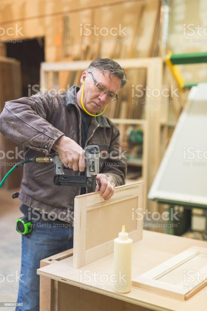 Woodworking Workshop stock photo