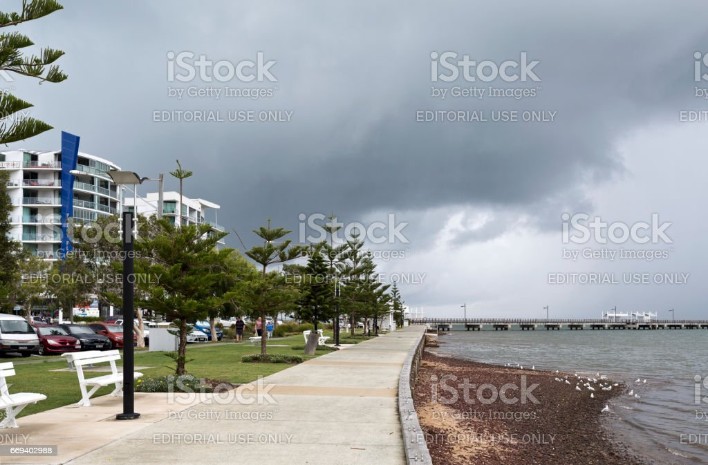 Woody Point Foreshore stock photo