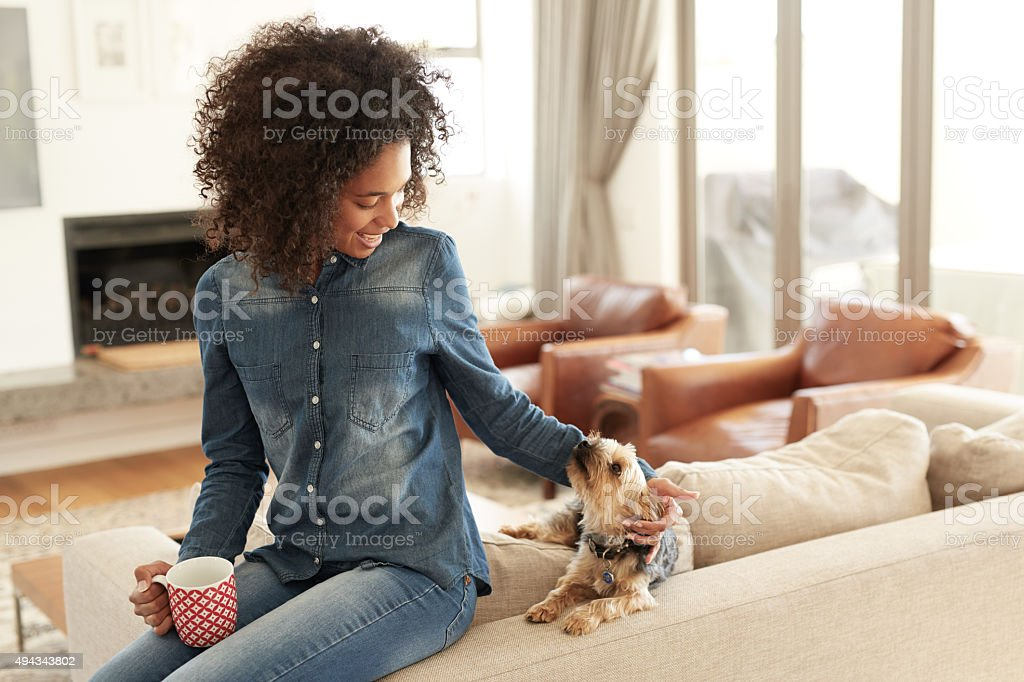 I woof you stock photo