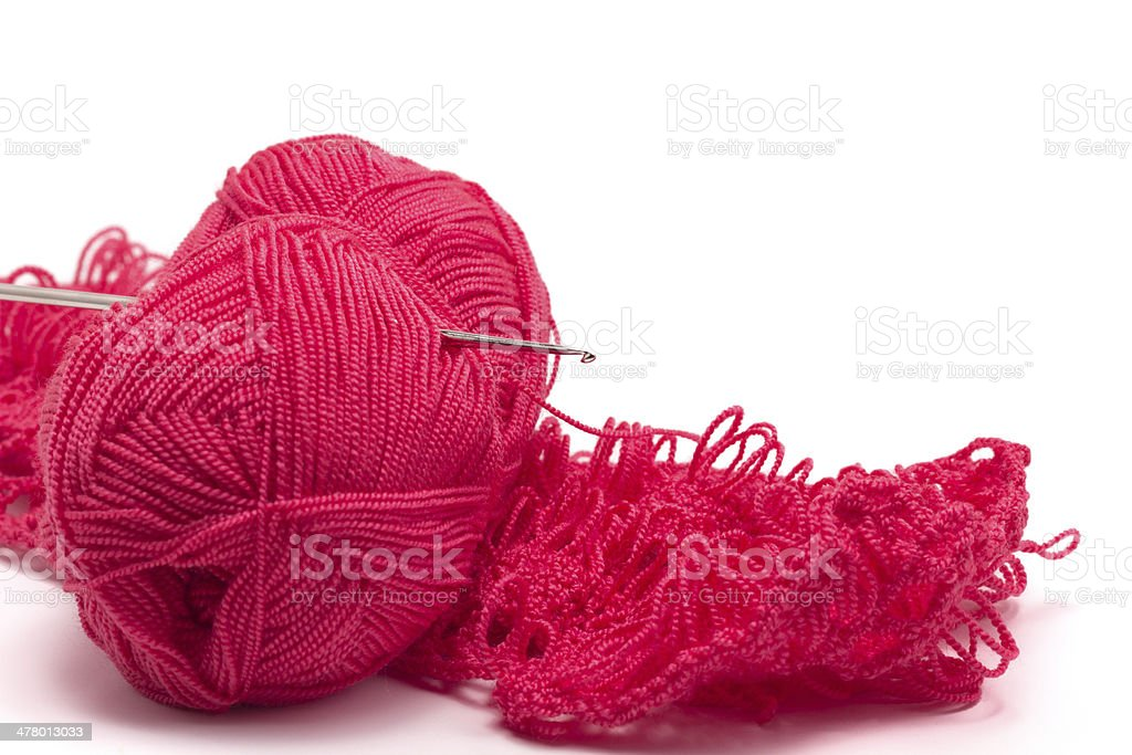 Wool, awl and product royalty-free stock photo