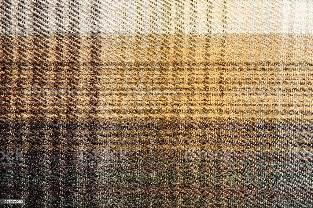 Wool background with Scottish cage. stock photo