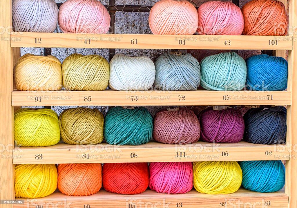 wool balls stock photo