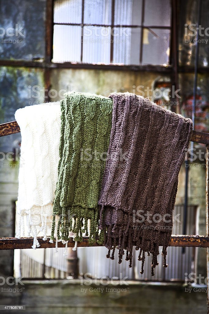 Wool Blanket In cold Environment royalty-free stock photo