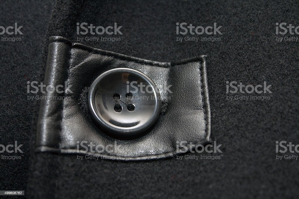Wool Coat Button stock photo