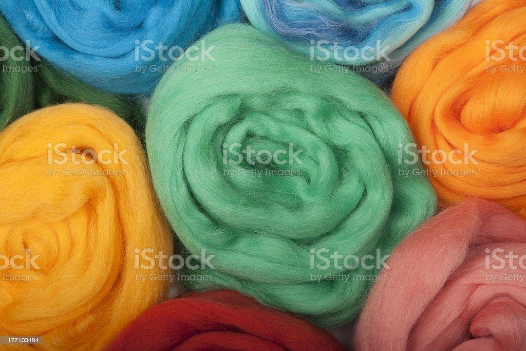 Wool for felting. stock photo