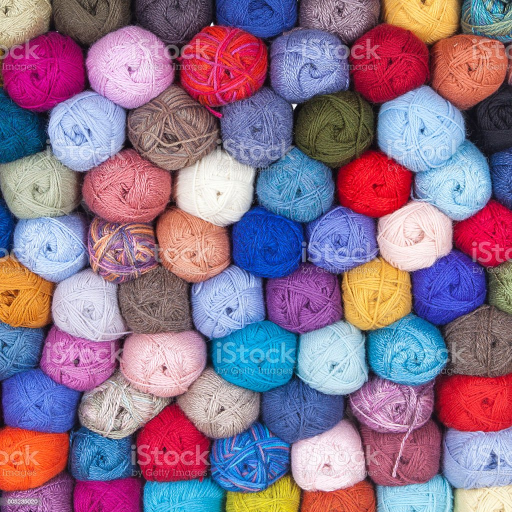 Wool for knitting stock photo