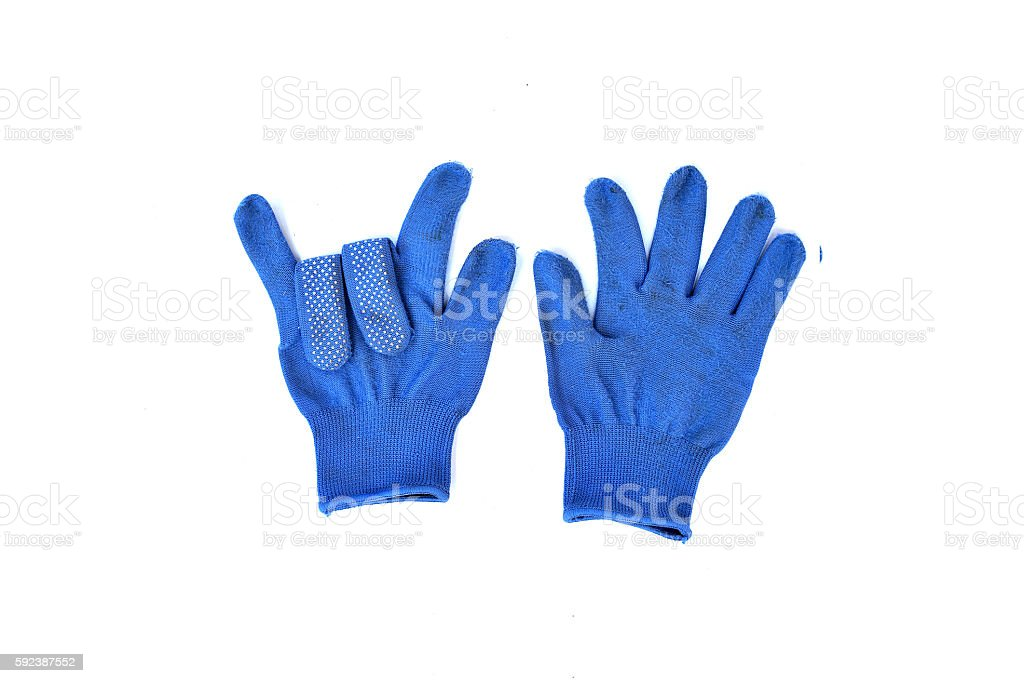 Wool gloves isolated on white background stock photo
