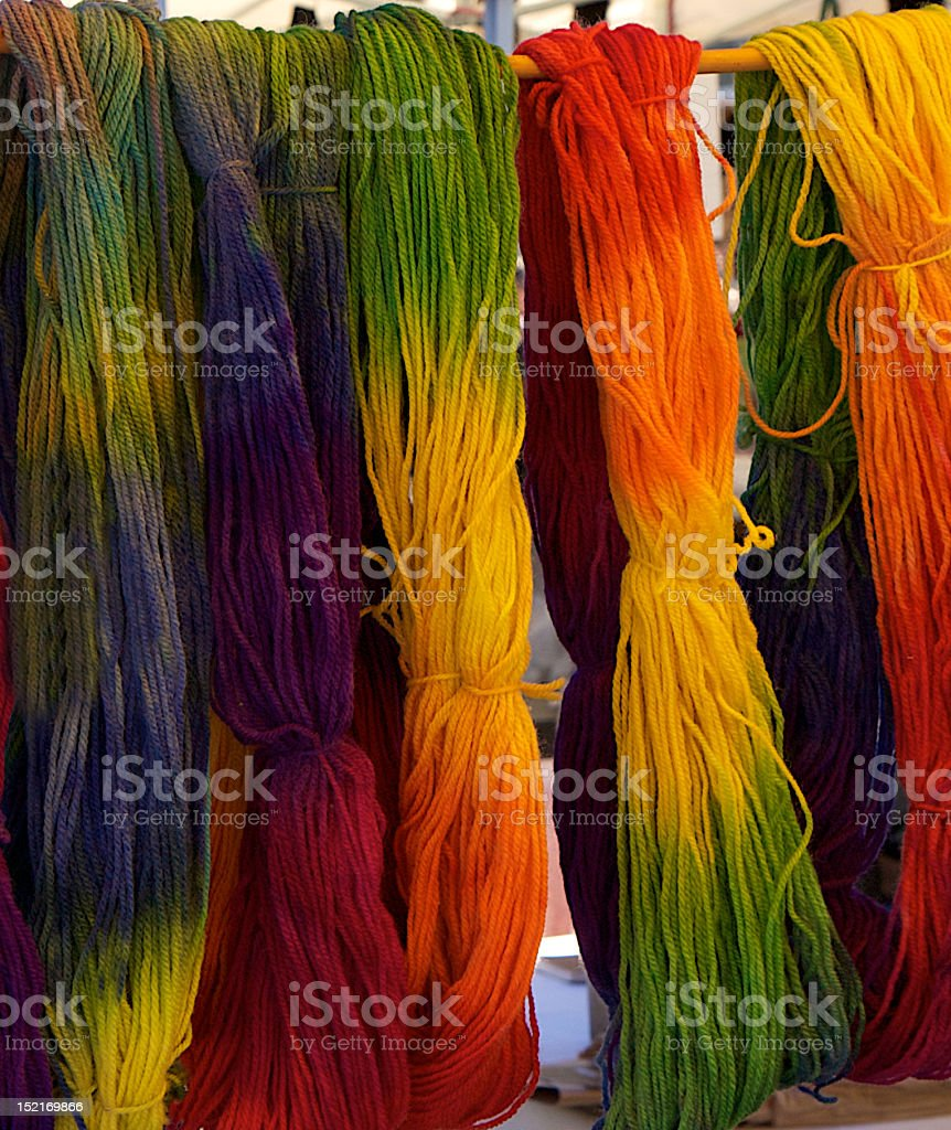 Wool in color stock photo