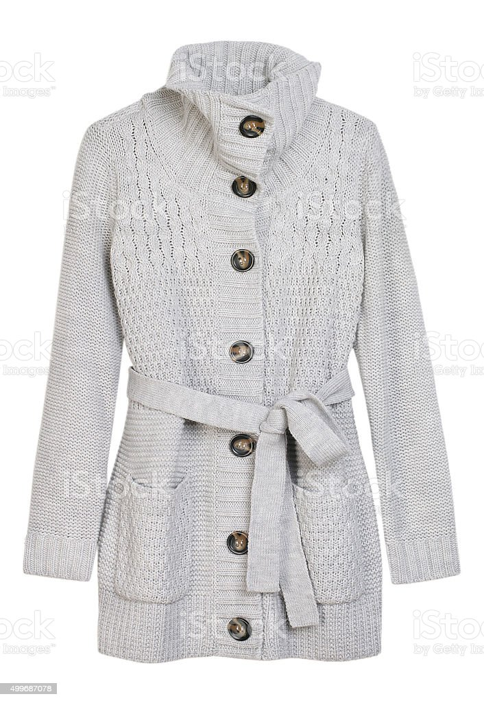 wool jacket, woman cardigan stock photo