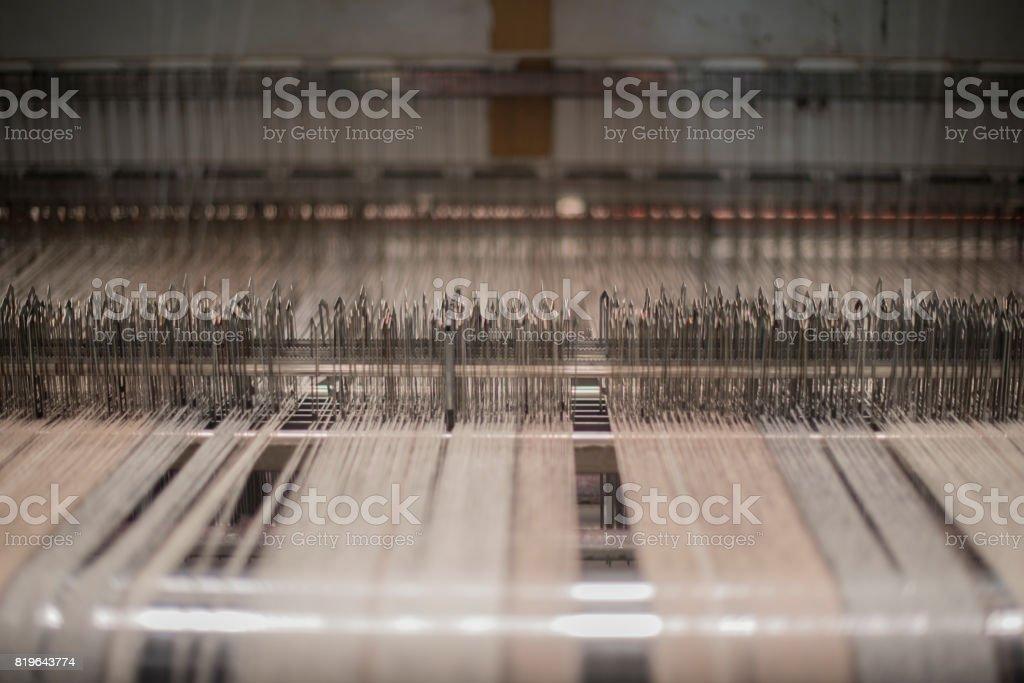 Wool making process stock photo