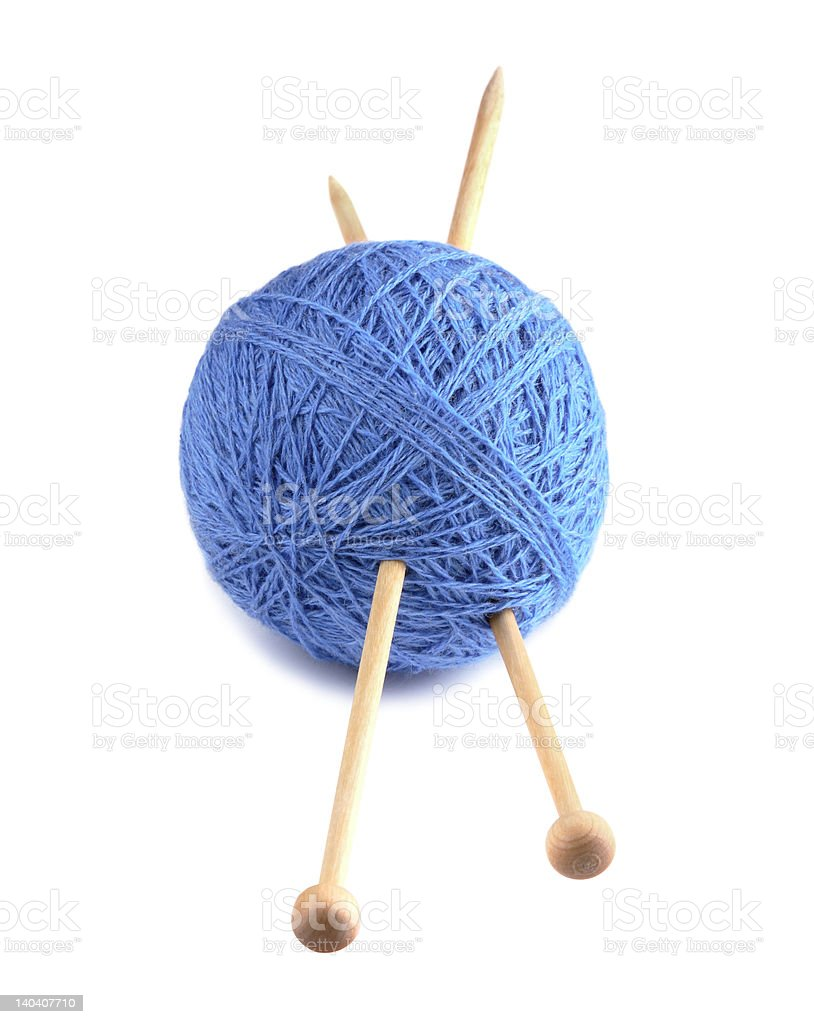 wool needles stock photo